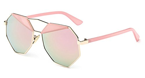 GAMT Mirrored Sunglasses Shaped Polygon Frame Fashion Eyewear Dazzle - Clubmaster Replica