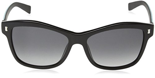 Furla - Lunette de soleil SU4881 Candy Wayfarer - Femme 55700X Shiny black & blue & white detail / smoke gradient lens