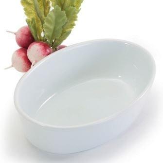 White Oval Pie Dish - BIA Cordon Bleu 60325 Oval Porcelin Bakeware 6.25 White