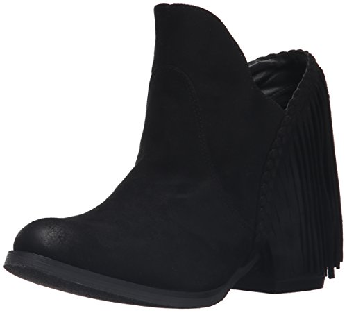 Not Rated Women's Braxton Ankle Bootie, Black, 8.5 M US (Fringe Ankle Boot)