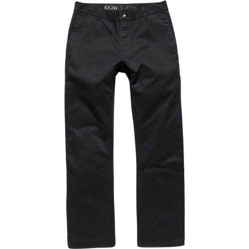 (KR3W Klassic Chino Men's Casual Wear Pants - Black / Size)