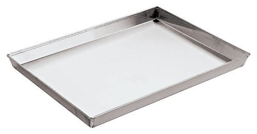 Paderno World Cuisine 11 7/8 Inch by 9 Inch by 1 1/8 Inch Splayed Sided Aluminized Steel Baking Sheet by Paderno World Cuisine
