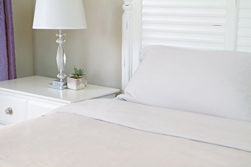 1 Fitted Sheet 100% Viscose From Bamboo (Twin XL, Silver)