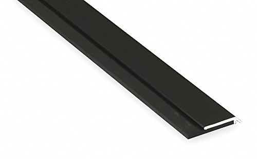 Single Fin Door Sweep, Dark Bronze Aluminum, 4 ft. Length, 1-1/4'' Flange Height, 7/16'' Insert Size by Pemko