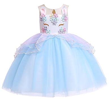 ZED- Vestido de Fiesta Niña, Disfraz Unicornio Niña ...
