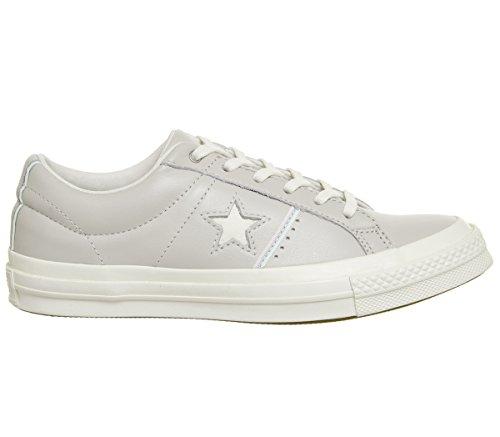 Converse Unisex-erwachsene Lifestyle One Star Ox Pelle Fitnessschuhe Beige (pallido Stucco / Pallido Quarzo / Garzetta 036)