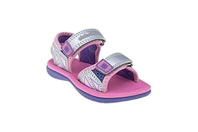 elefanten Girls - Toddler Open Air Sport Sandals - Water Friendly - Size 6.5 AU - Grey, Pink