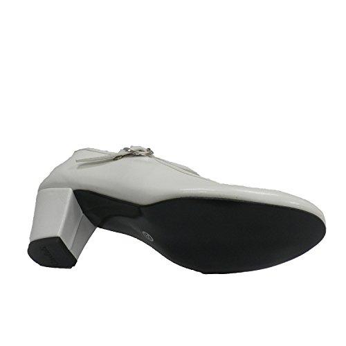 Fille ou femme de chaussures de danse flamenco sévillane Danka en blanc