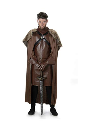 Faux Fur Cape Costume Set - Halloween Medieval Knight Warrior Cloak, X-Large ()