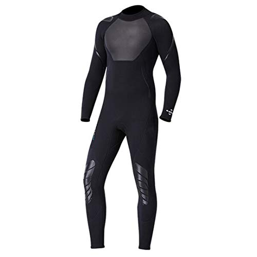 qualidyne Wetsuit Men Triathlon Full Body Diving Wetsuit 3MM Neoprene Long Sleeves Wet Suit for Open Water Swimming Diving Surfing