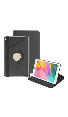 Shoppers Point 360 Degrees Rotate PU Leather Stand Flip Case Cover Compatible for Samsung Galaxy TAB A 2019 8.0″ inch SM-T290 / T295 – Black