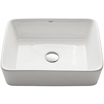 Nice Kraus KCV 121 White Rectangular Ceramic Bathroom Sink