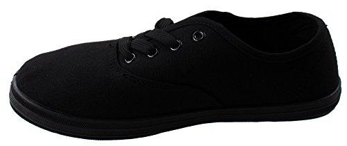 Scarpe Da Donna Sneakers Basse Snodate Alla Caviglia Da Donna Modello 9002 Nere