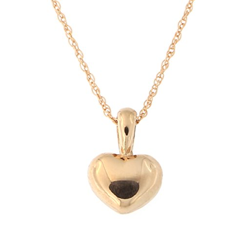 Rose Puffed Heart Pendant Necklace product image