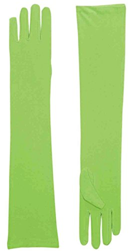 Long Nylon Gloves (Green) Adult Accessory by Forum Novelties