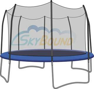 Trampoline Net for 15' Round Skywalker Trampoline Fits 8 Poles (Net Only) [Toy]