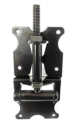 Black Stainless Steel Powder Coated PVC//Vinyl//Wood Gate Hinge Set