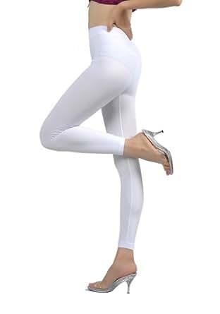 Soho Girls Junior's Fleece Inner Brush Full Length Leggings - One Size, White