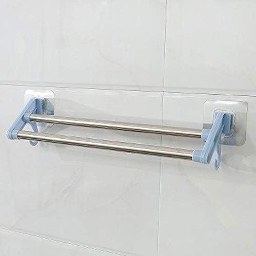 タオルラック、タオルバー、ドアハンガー、バスルームタオルバー、バスルームシェルフアーティファクトコンパートメントタオルラックタオルラックフック (Color : F10cmx37cm)