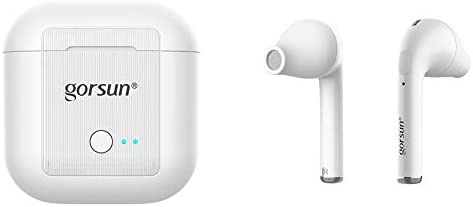 Wireless Earbuds, Bluetooth Earbuds with Touch Control, in Ear Bluetooth 5.0 Headphone Noise Cancelling TWS Earbuds with Charging Case and Build-in Microphone - White