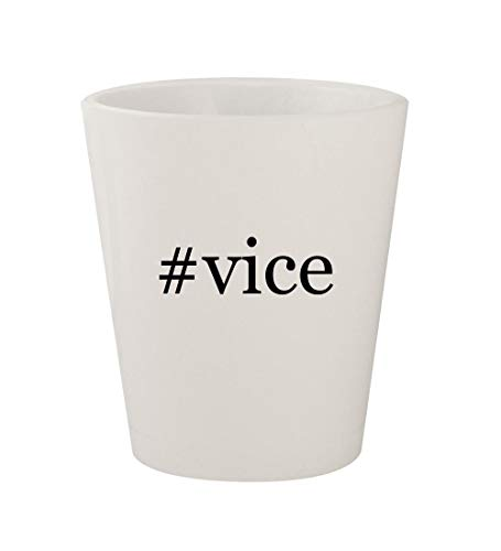 #vice - Ceramic White Hashtag 1.5oz Shot Glass