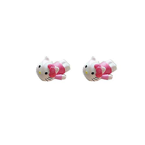 Telephone Kitty Hello (Hello Kitty Charger Bites (Pink) - Adorable Cable Protectors - Cable Bites Phone and MacBook Accessory - for iPhone and Android - Packs (Two Pack))