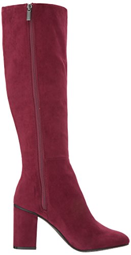 Women's Time REACTION The Cole to Knee to Riding Kenneth Boot Microfiber Burgundy Step SFwUfxHq