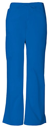 Modern Flare Pants (Dickies Women's Mid Rise Drawstring Cargo Pant_Royal_XX-Large,86206)