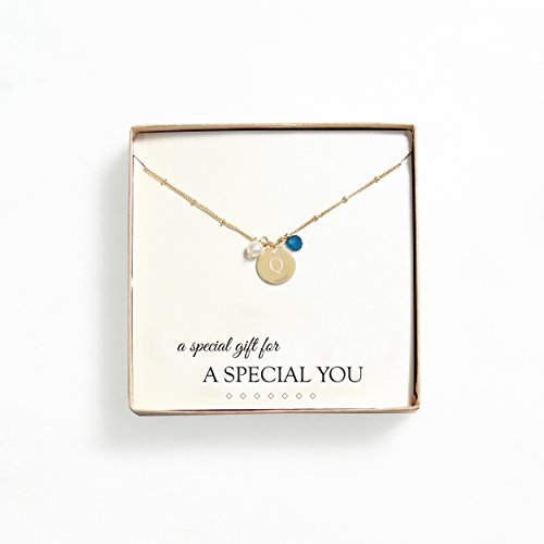 Cathys Concepts Personalized Necklace Turquoise product image