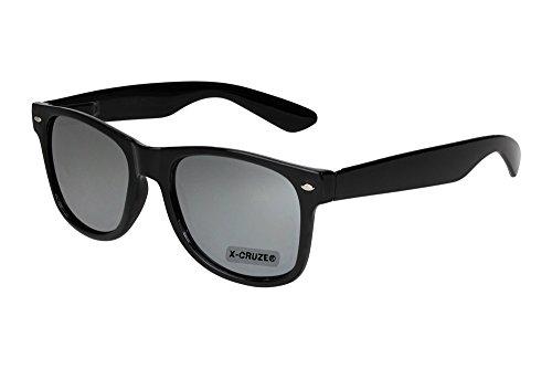 schwarz soleil und 45 verspiegelt style nerd paire coloris ® style disponibles silber Noir lunettes Cruze de modèles et wayfarer de vintage lunettes retro clear au de X soleil mixte Fw8fz4qZf