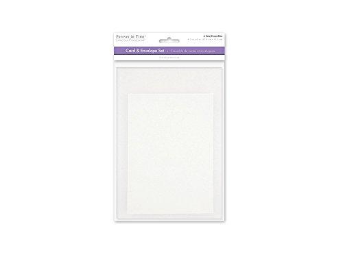 [해외]Forever in Time CM600B A6 Cards & Envelopes 6 Sets 4.5in x 6in White / Forever in Time CM600B A6 Cards & Envelopes, 6 Sets, 4.5in x 6in, White