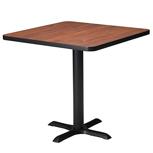 (Mayline Bistro Series Square Dining Height Table with Black Base,)