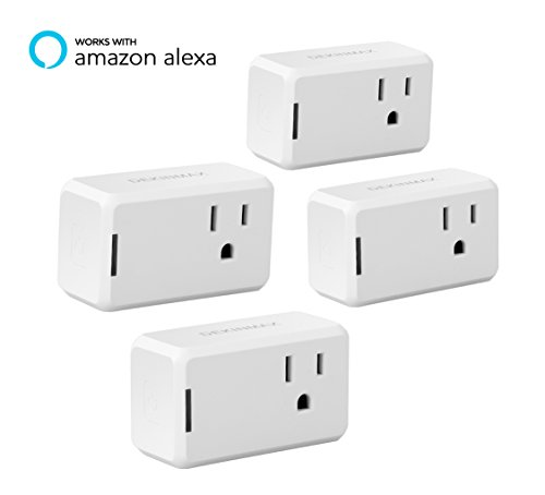 DEKINMAX Smart Plug Mini Remote Control WiFi Outlet for Home Use Compatible with Alexa (Pack of 4)