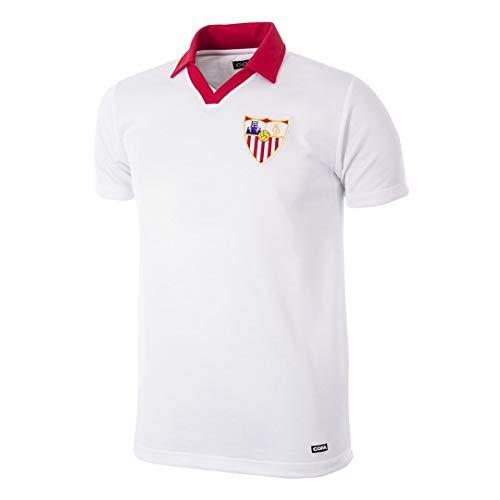 Camiseta del FC Sevilla Retro 1980/81, color blanco, talla S