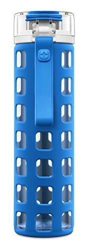 Ello Syndicate 20-Ounce BPA-Free Glass Water Bottle with Flip Lid, ()