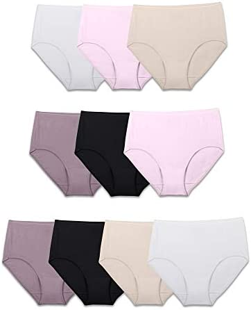 Fruit of the Loom Women's Tag Free Cotton Brief Panties (Regular & Plus Size)