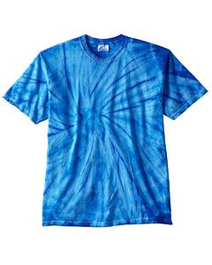 Tie-Dye 5.4 Oz., 100% Cotton Tie-Dyed T-Shirt (CD100)- Spider Royal,XX-Large (Tie Dyed Shirt)