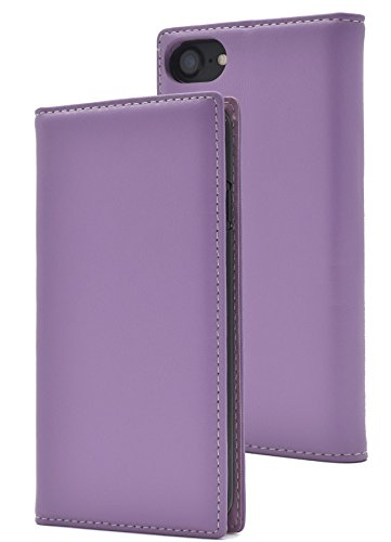 PLATA iPhone6/iPhone6s/iPhone7/iPhone8 ケース 手帳型 ラム シープスキン 羊革 本革 レザー カバー アイフォン 6 6s 7 8 【 ラベンダー 紫 lavender 】
