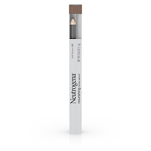 Soft Brown Shade - Neutrogena Nourishing Eyebrow Pencil with Spoolie Brush, 2-in-1 Eyebrow Filler In Shade Soft Brown 20, .04 oz (Pack of 2)