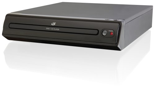 GPX D202B Compact Progressive Scan 2-Channel DVD Player with