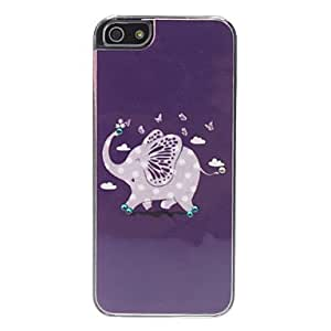 DUR Cartoon Elephant Pattern Hard Case for iPhone 5/5S