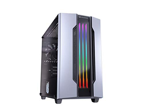 Cougar Gemini M Mini Tower Gaming Case with Addressable RGB and Dynamic Lighting Effects (Silver)