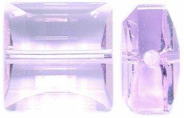 Swarovski 5624 Stairway Beads, Transparent Finish, 14mm, Rosaline, 2-Pack 14 Mm Stairway Bead