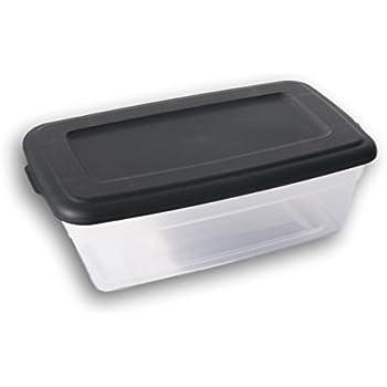 Sterilite 6 Quart Storage Bin Shoe Box - Clear and Black  sc 1 st  Amazon.com & Amazon.com: ONE Sterilite 6-Quart Storage Bin Shoe Box - Clear and ...