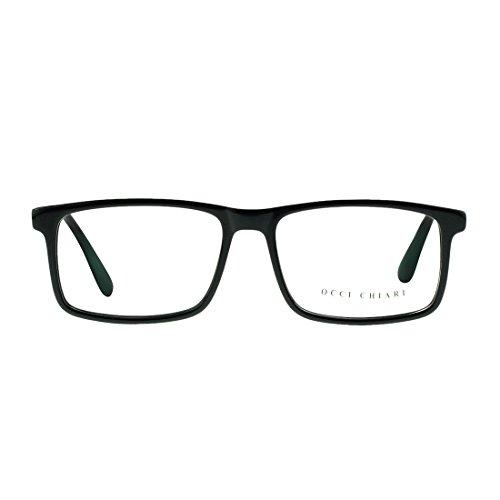 OCCI CHIARI Fashion Basso Acetate Color Green Eyeglasses Frame With Clear - Glasse Prescription
