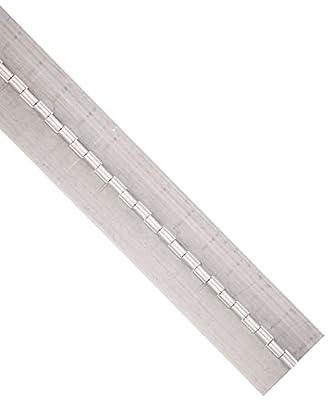 "RMP Aluminum Continuous Hinge, 2"" Open, 36"" Length, .075 Gauge, .1875 Pin Diameter, No holes, Unfinished"