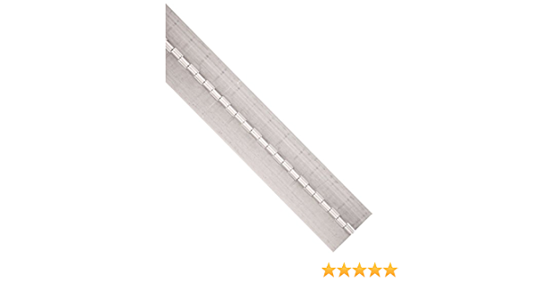 1//8 Pin Diameter Pack of 1 by Monroe 1//2 Knuckle Length 2 Open Width Aluminum 5052 Continuous Hinge without Holes Unfinished 0.06 Leaf Thickness 1 Long