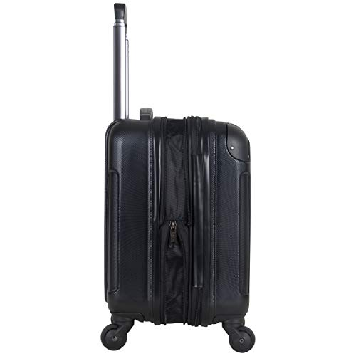 """Kenneth Cole Reaction Renegade 16"""" Hardside Expandable 4-Wheel Spinner Mini Carry-on Luggage, Black"""