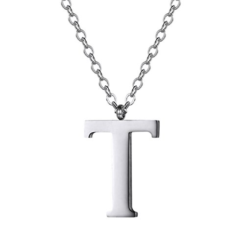 - Initial Letter T Necklace,Alphabet Name Jewelry,Men/Women,Personalized Groomsman Bridesmaid gift,Wedding Minimalist Bridal Party Graduation Gift,Stainless Steel,P2820G