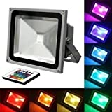 10W 12V DC or AC RGB Flood Light - TDLTEK 10W RGB Multiple Changing Colors LED